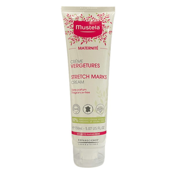 Picture of the Mustela cream stretch mark wihtout parfume